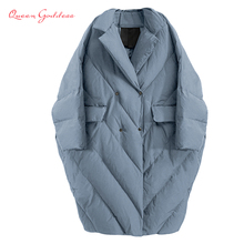 Winter New Fashion Women Long Down Jacket Warm Coat Oversize