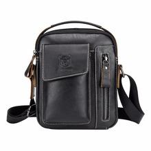 BULLCAPTAIN Genuine Leather Men Messenger Bag Casual Crossbody Bag Business Men's Handbag Bags for gift brand shoulder bag