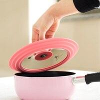 Glass Silica Gel Cooking Lid Silicone Milk Pot Wok Pan Cover Splash Oil High Temperature Anti