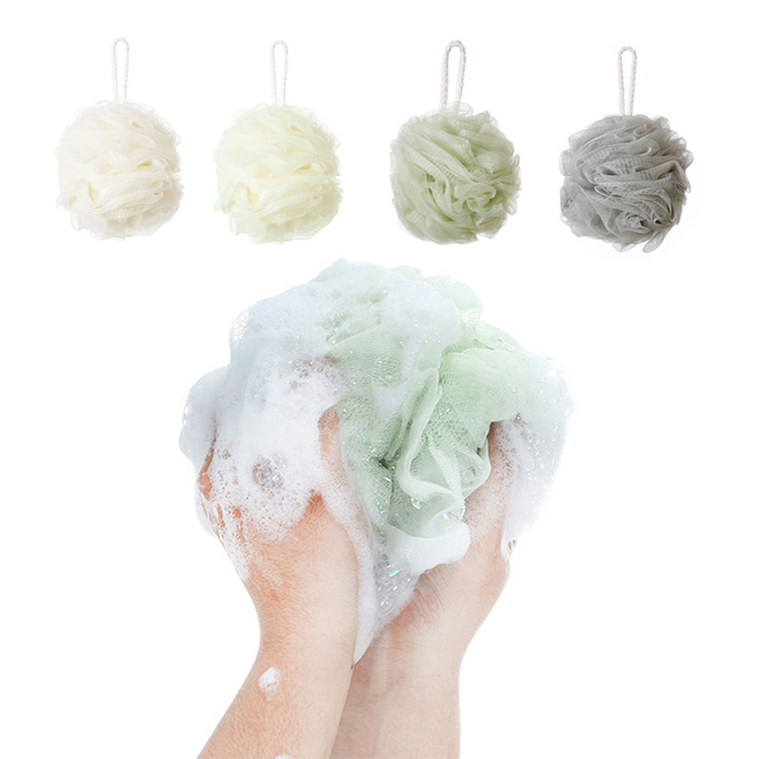 New 1PCS Random Color bath ball bathsite bath tubs Cool ball bath towel scrubber Body cleaning Mesh Shower wash Sponge product