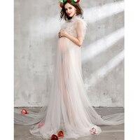 White Lace Dress Maternity Photography Studio Prop Summer Pregnancy Photoshoot Long Dress Pregnant Women Gown Fotografia Clothes