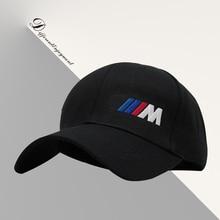 Customized car logo hat cotton washed high-grade fabric BMW IIIM racing cap Sports baseball cap