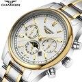 Relogio masculino 2016 GUANQIN Homens Top de Luxo da Marca Relógios de Quartzo dos homens À Prova D' Água 100 M relógios de Pulso relojes Relógio Masculino Horas