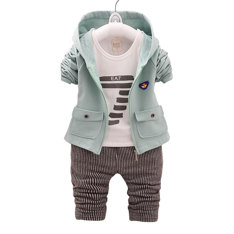 Seturi de îmbrăcăminte pentru copii BibiCola Seturi de îmbrăcăminte pentru bebeluși de primăvară Toamnă pentru copii cu mânecă lungă Îmbrăcăminte Bebe 3pcs Costume de moda Suit Toddler Tracksuit set