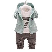 BibiCola Baby Boy Quần Áo Sets Mùa Xuân Mùa Thu Trẻ Em Dài tay áo Quần Áo Bebe 3 cái Thời Trang Trang Phục Phù Hợp Với Toddler Tracksuit b