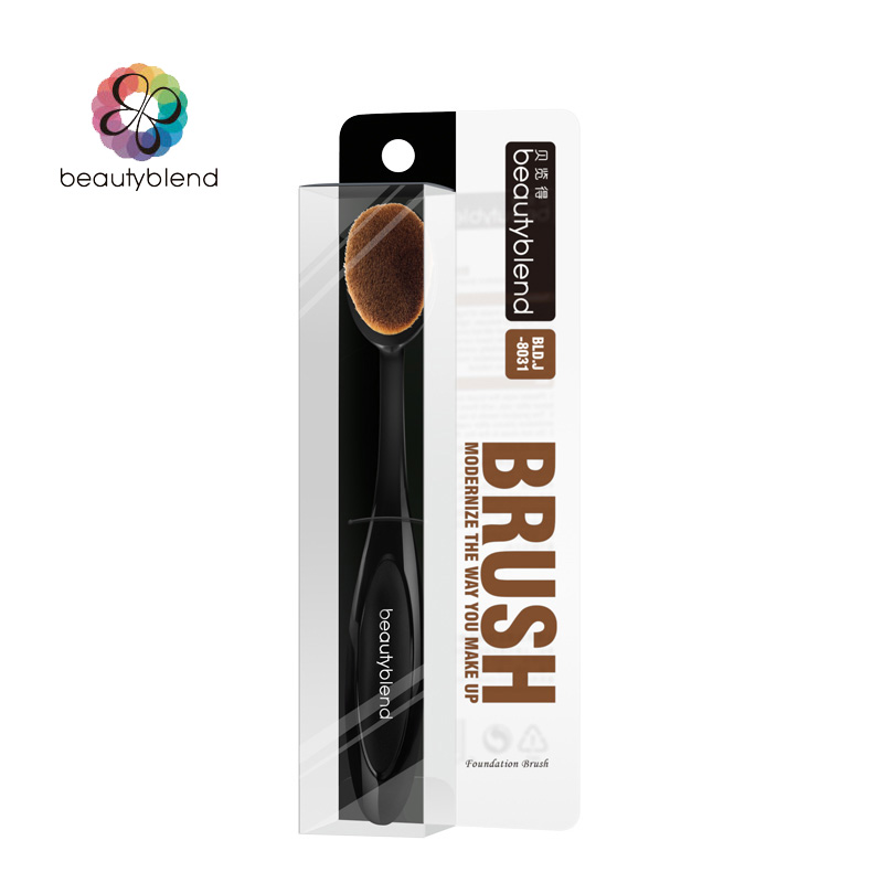 Beautyblend Brand J-8031 Makeup Tools Synthetic Hair Fiber Cosmetic Brush Beauty Toothbrush Shaped Foundation Brush cosmetic beauty tool toothbrush shape supersoft fiber liquid foundation brush