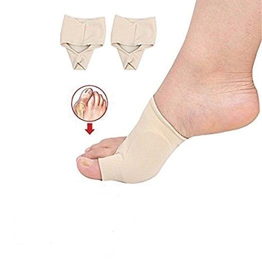 Aptoco 2 Pcs Bunion Corrector Gel Pad Stretch Nylon Hallux Valgus Protector Guard Toe Separator Orthopedic Supplies 2