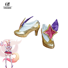 ROLECOS Game LOL Cosplay Shoes Star Guardian Ahri High Heel  LOL Ahri Cosplay Shoes Magic Girls Ahri Cosplay Shoes Customized
