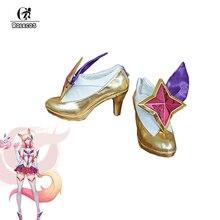Rolecosゲーム笑コスプレ靴スターガーディアンahri高ヒールlol ahriコスプレ靴魔法少女ahriコスプレカスタマイズ