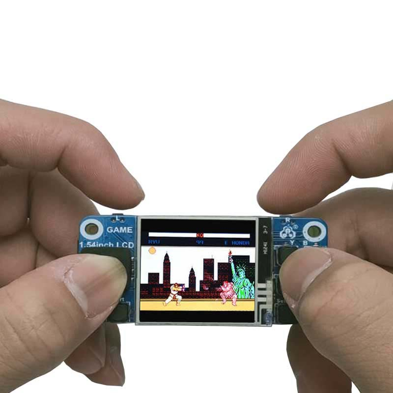 "Raspberry Pi Mini Game Console 1.54 ""LCD Mini Display Touch Screen For Raspberry Pi 2B/3B+/Zero W"