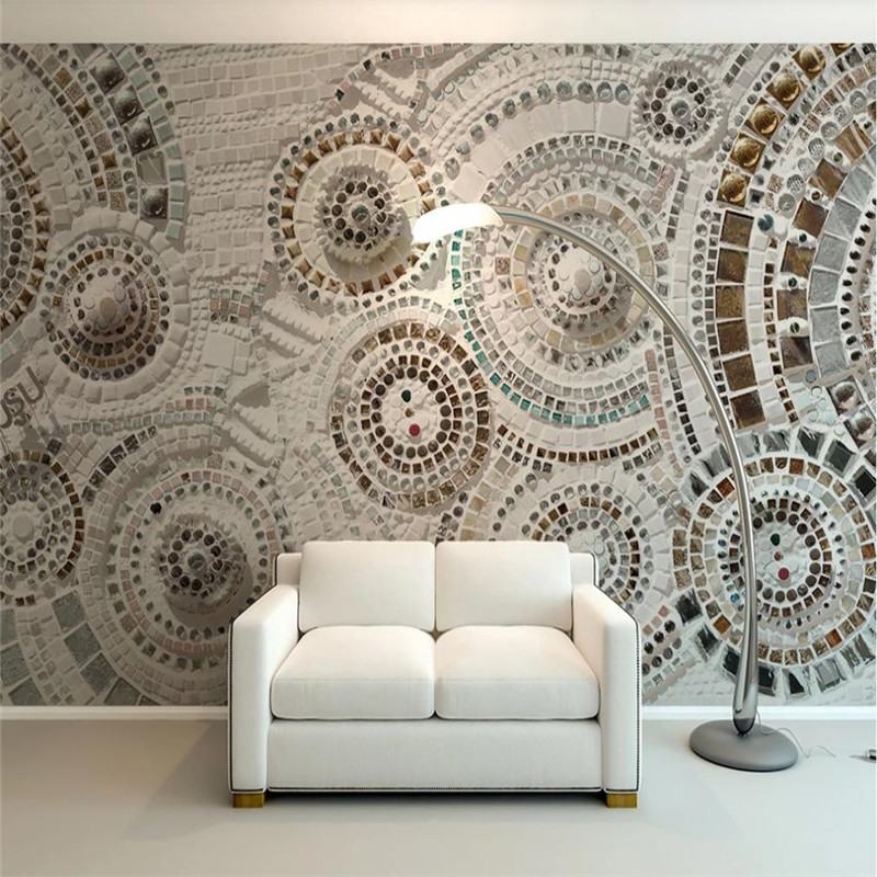 Custom wallpaper bohemian circle simple modern background wall - decorative waterproof material