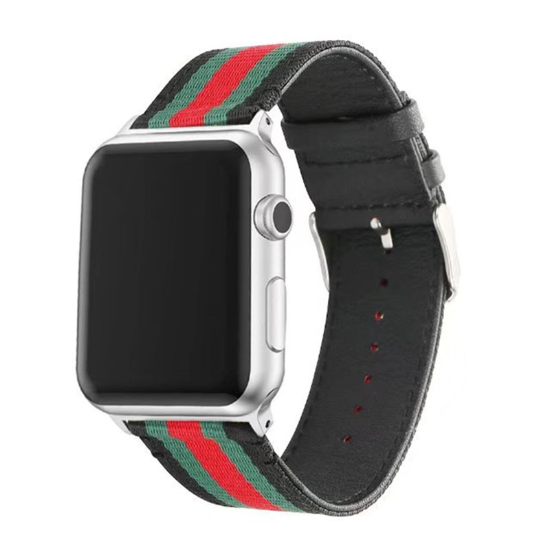 Genuine leather watch bracelet accessories for apple watch strap 38mm Black White Nylon apple watch band 42mm iwatch watchbands maikes 18mm 20mm 22mm watch belt accessories watchbands black genuine leather band watch strap watches bracelet for longines