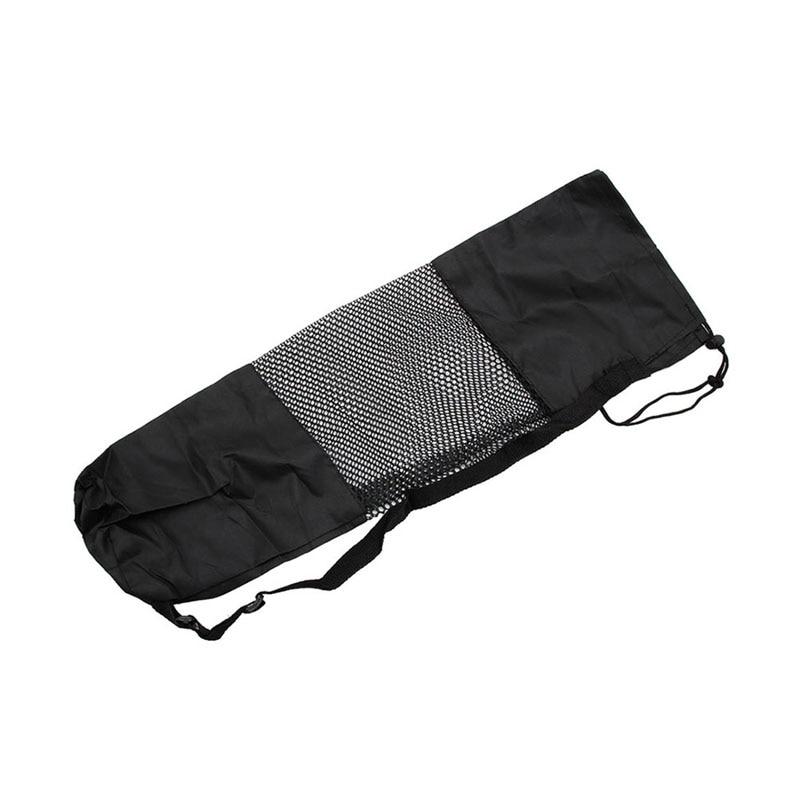 2019 Mode Ootdty Neue Nylon Schwarz Verstellbaren Riemen Yoga Pilates Matte Träger Tasche Mesh Center Fall Taschen Waschbar Tragbare