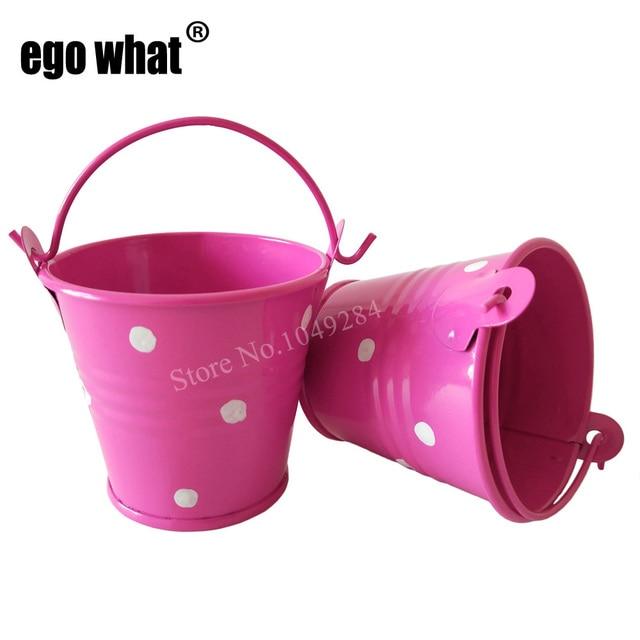 50pcs Lot D6 H5cm Metal Buckets Mini Pail Small Seed Bucket Cute Succlents