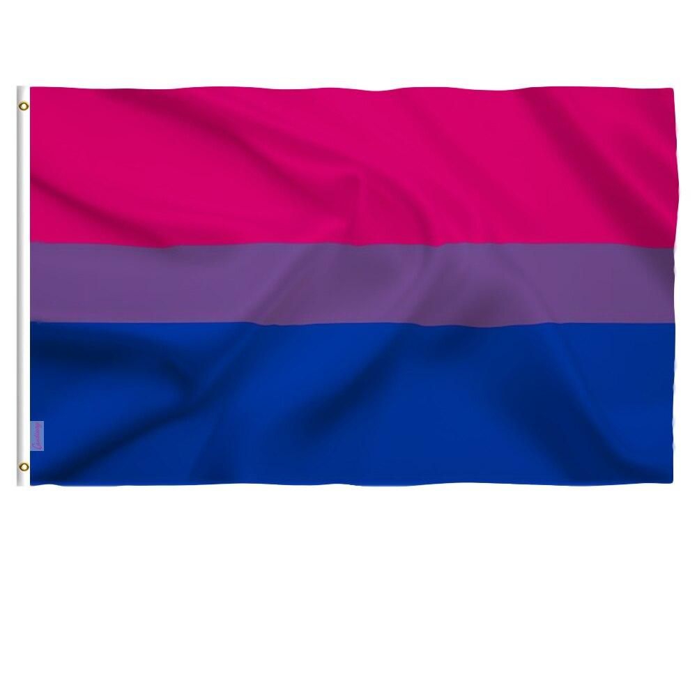 Candiway 3x5 футов Би Прайд флаг яркий цвет и УФ выцветание холста заголовок и двойной сшитые флаги из полиэстера