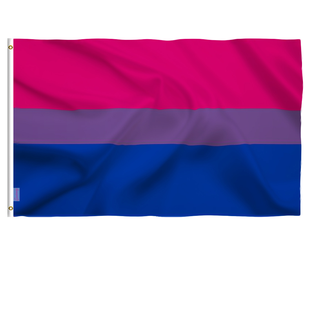 Candiway 3x5 Foot Bi <font><b>Pride</b></font> <font><b>Flag</b></font> Vivid Color and UV Fade Resistant Canvas Header and Double Stitched <font><b>Bisexual</b></font> <font><b>Flags</b></font> Polyester image