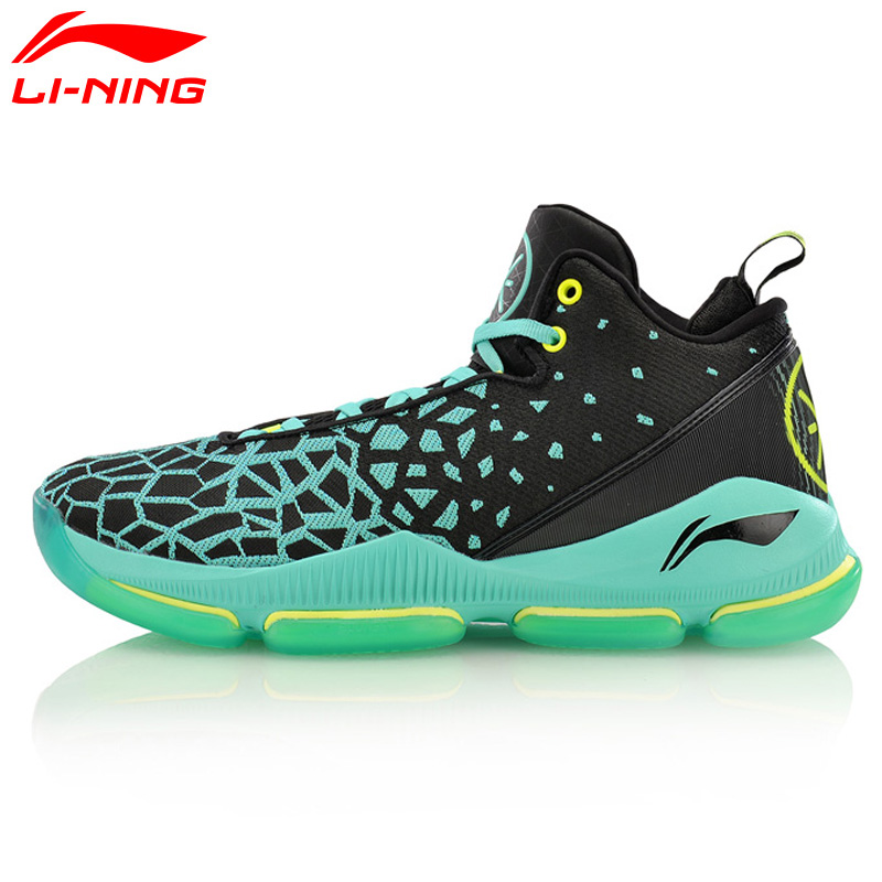 Li-Ning Men's FISSION III Wade Professional Basketball Shoes LiNing Cloud Breathable Sneakers Sports Shoes ABAM025 XYL109 li ning original men sonic v turner player edition basketball shoes li ning cloud cushion sneakers tpu sports shoes abam099