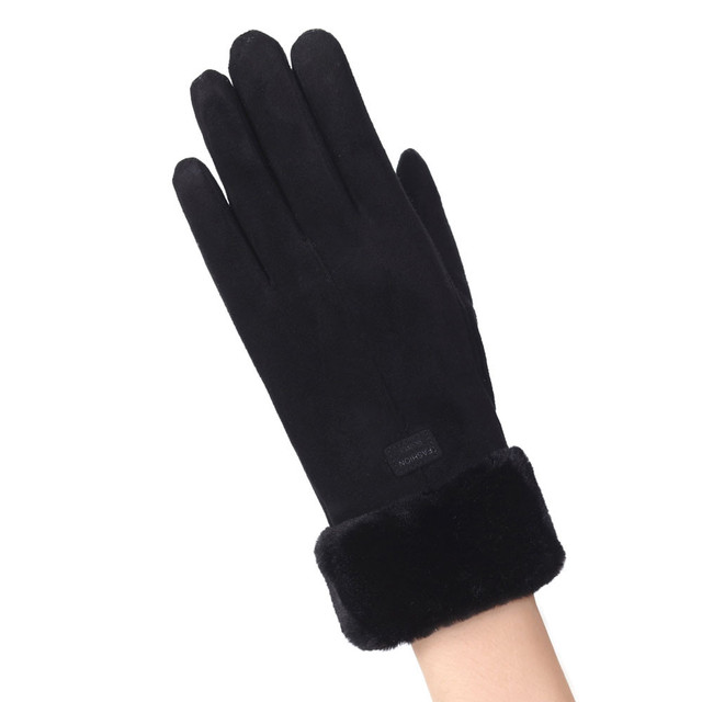 Glove Black Gloce Winter...