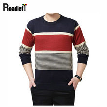Mens brand bussiness casual wool sweaters Men autumn winter fashion stripe pullover Man cashmere sweater