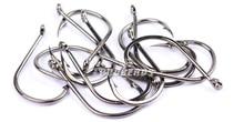 200pcs/lot Fishing Hook 3#-15# single hook High Qulity fishing tackle black color Jig Big Hook Treble Hooks