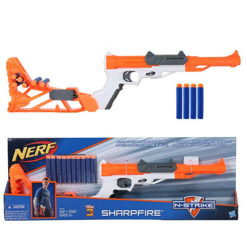 Licensed High N Strike ELITE 6 in 1 Convertible Sharpfire Blaster Toy Gun  with 10 Darts Refill Clip Darts nerf bullets-in Toy Guns from Toys &  Hobbies on ...