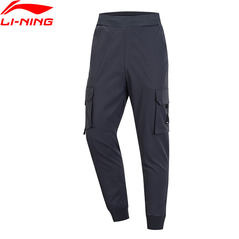 Li Ning Men BAD FIVE Basketball Series Sweat Pants Regular Fit 100 Polyester Pockets LiNing Sport