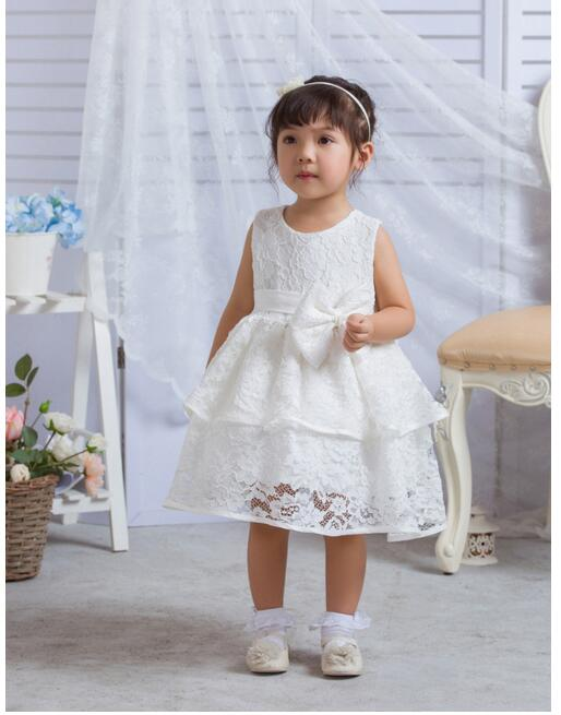 Baby Girls Christening Formal Dresses 2017 Baptism Bow Lace Tiered Cute Infant Girls Princess tutu Dress Kids Birthday Dresses baby girls pageant formal dresses 2017 baptism bow lace cute infant girls princess tutu dress kids birthday party dresses pink