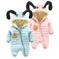 Детские зимние новорожденных одежда утолщение плюс бархат зима ползунки детская одежда и подъем