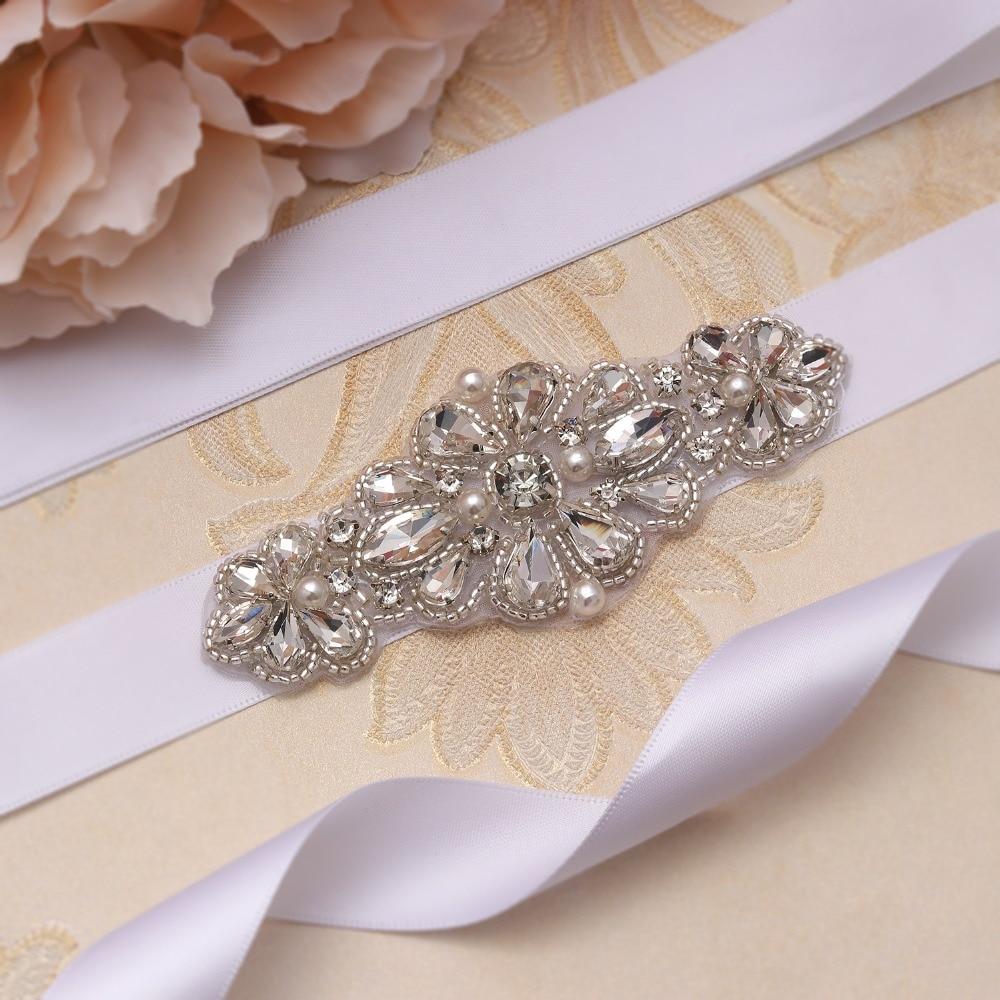 Yanstar Hand Perlen Hochzeit Gürtel Silber Strass Braut Gürtel Perlen Hochzeit Schärpe Kristall Braut Schärpe Für Frauen Kleider Xy894 Braut Blets Weddings & Events