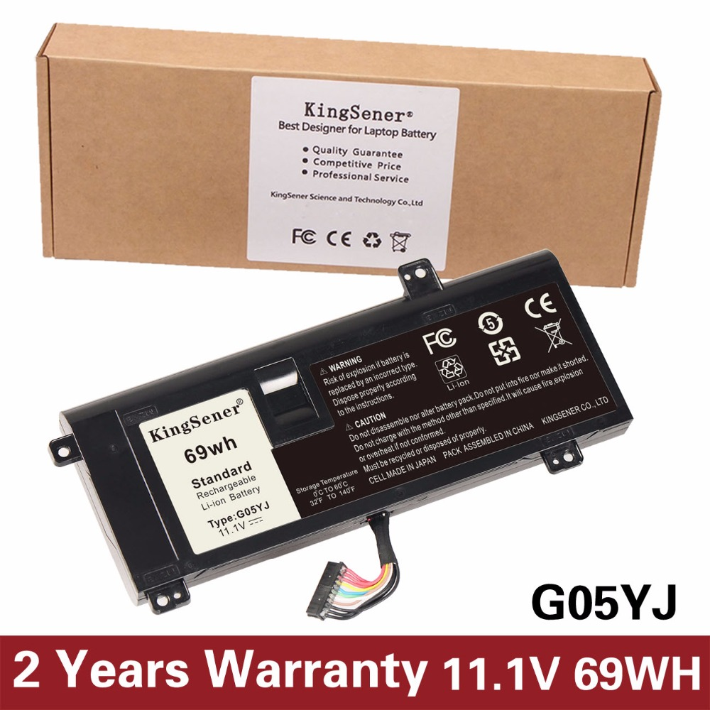 KingSener Korea Cell New G05YJ Laptop Battery for DELL Alienware M14X R4 A14 14D 0G05YJ G05YJ Y3PN0 8X70T Free 2 Years Warranty 14 8v 63wh original new laptop battery for dell alienware m11x m14x r1 r2 battery 0w3vx3 08p6x6 pt6v8