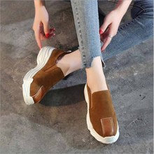 Spring women sneakers oxford flats shoes women leather suede lace up round toe breathable comfortable casual shoes women цены онлайн