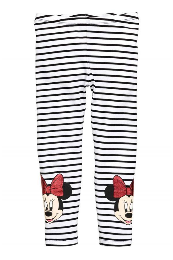 Kids Girl Cartoon Minnie Mouse Striped Cotton Pants Leggings Trousers Bottoms