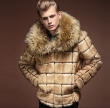 Mens Nagymaros Collar Fur Coat Personality Artificial Leather Grass Rabbit Jacket Large Size Turn Down Outwear J529
