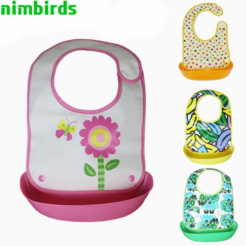 EVA Baby Pocket Slabbetjes Waterdicht Voeden Bib Eat Pocket Speeksel - Babykleding - Foto 1