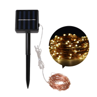 Auto Solar Powered 100LED Fairy String Light Warm White Patio Lawn Light Garden Holiday Christmas Decor