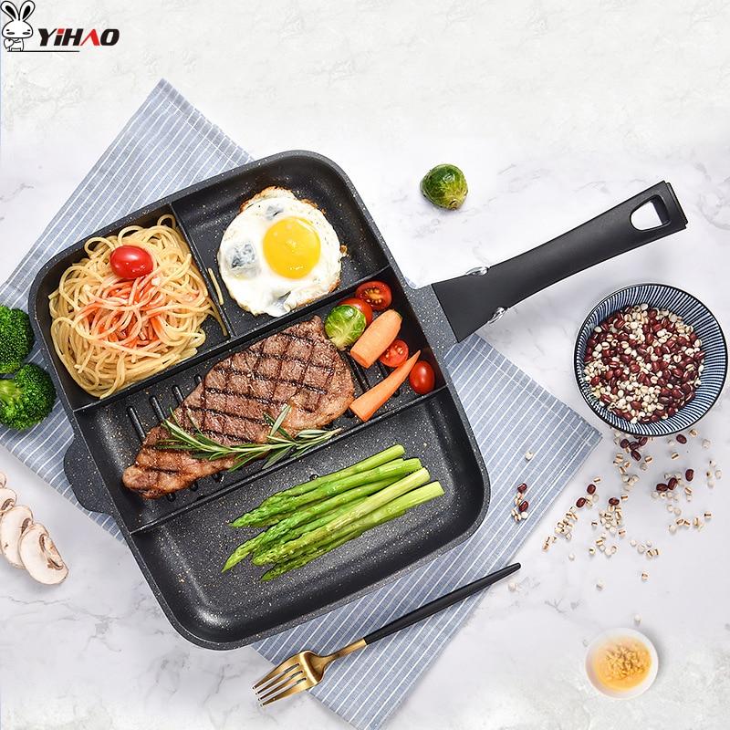 YIHAO 33*27cm Maifanshi Breakfast Pot Home Multi-Function Non-Stick Pan Frying Pan Steak Pot Kithen Tool