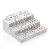 30 Grads Velvet Leather Bracelet Bangle Necklace Jewelry Organizer Holder Display Stand Rack in Gray Color 240*260*190mm