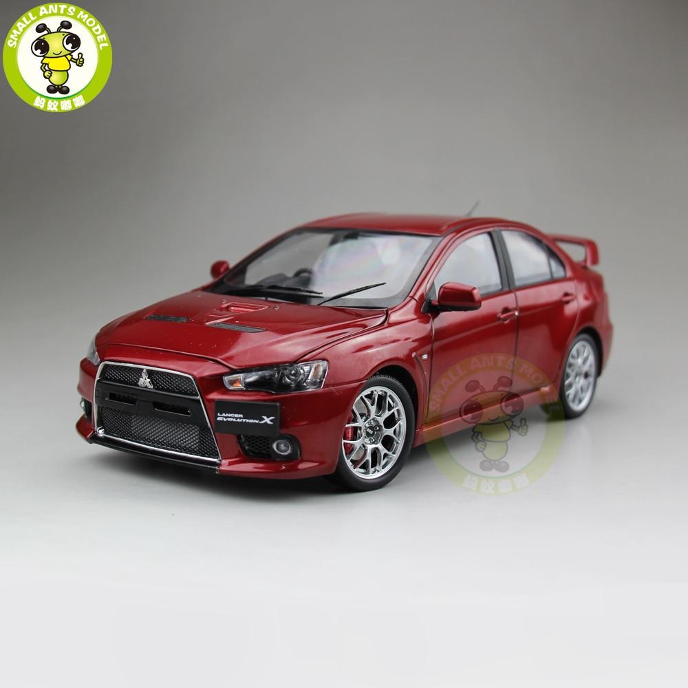 1/18 Mitsubishi Lancer EVO X EVO X 10ขวาพวงมาลัยD Iecastโลหะรถโมเดลของเล่นเด็กสาวของขวัญสีแดง-ใน โมเดลรถและรถของเล่น จาก ของเล่นและงานอดิเรก บน   1