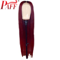 PAFF 1B/99J Red Ombre Full Lace Human Hair Wig Brazilian Silky Straight Wig Remy Hair Lace Wigs For Women 150% Density 10 30Inch