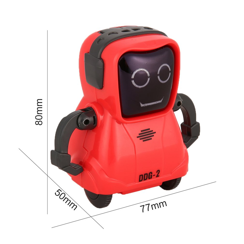 Mini Pocket Voice Recording RC Robot Intelligent Smart RC Robot Recorder Arm Wheeling 360 Rotating R
