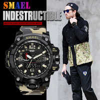 2019 SMAEL Camouflage Military Digital-watch Men's G Style Fashion Sports Shock Army Watch LED Electronic Wrist Watches for Men