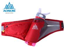 AONIJIE New Running Waist Bags For Women Men Sport Nylon Unisex Pouch Outdoor Patchwork Pocket With Bottle Holder