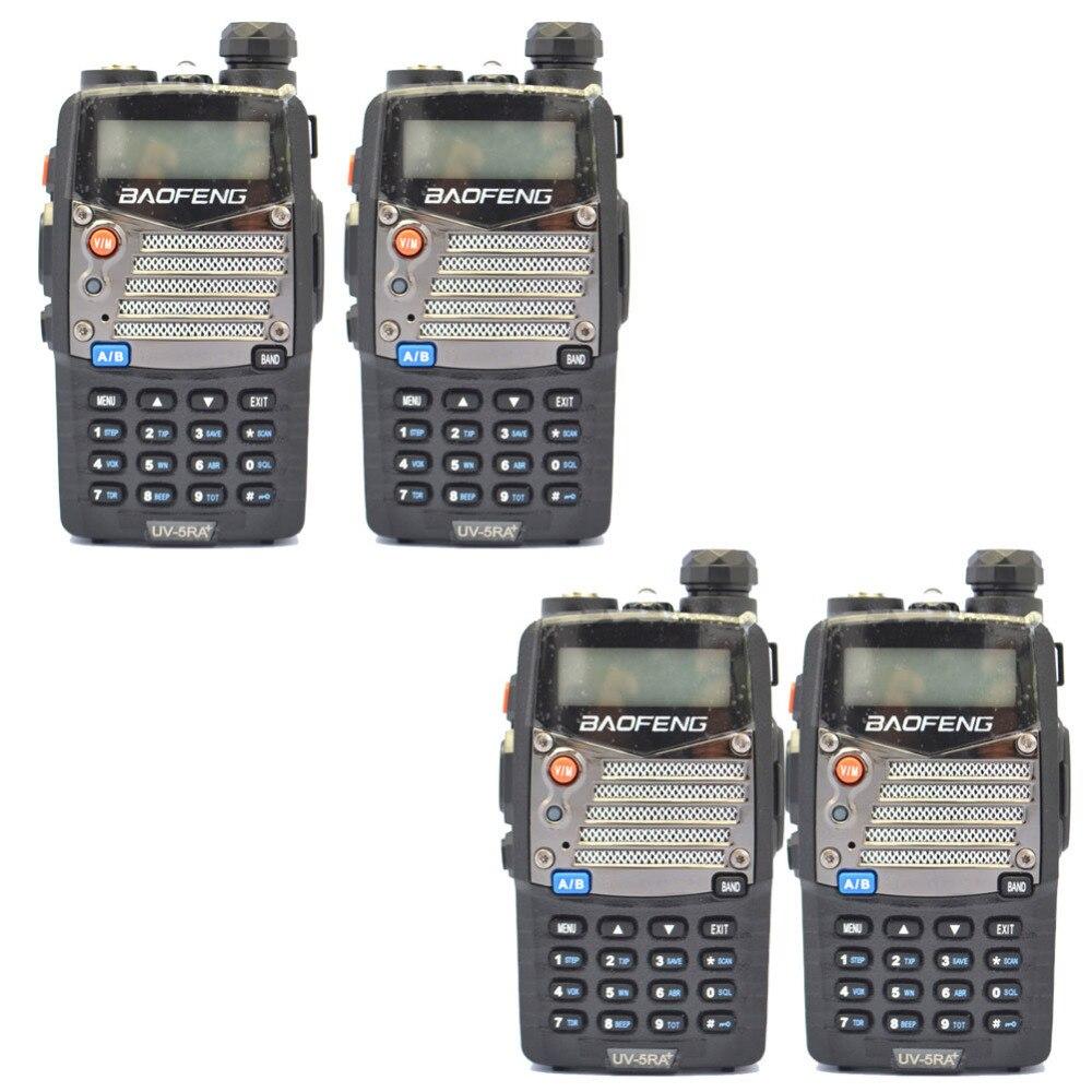 SPAIN-Madrid 4PCS Black Baofeng UV 5RA+Plus WalkieTalkie 136-174&400-520MHz Two Way Radio  Ship By LETTER-only 3 Days Recieve