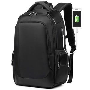 Image 1 - 2019 nouvelle marque supérieure bagage à main 15.6 pouces hommes femmes sac lycée USB chargeur Port affaires voyage sacs à dos dordinateur portable cadeau