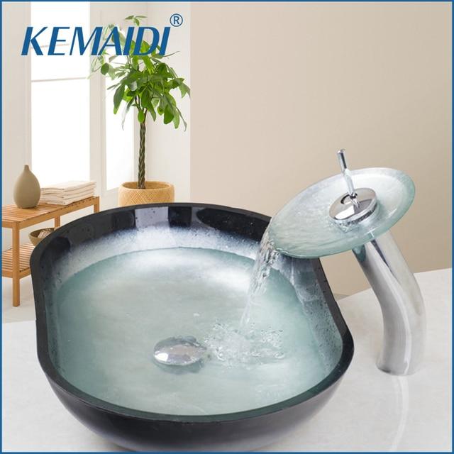 Kemaidi New Wasserfall Schone Oval Hand Malen Bunte Waschen