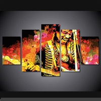 Artistic originality Indoor Art Abstract Indoor Decor Jimi hendrix wall poster decoration print canvas 5 pieces
