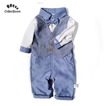 Baby boy outfit clothes sets 2019 New spring brand baby clothing set romper + pant 2pcs gentleman suit newborn birthday costume все цены
