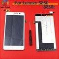 1 pc/lote cor branca preta para lenovo s850 s850t display lcd + touch screen digitador assembléia frete grátis
