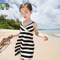 Girls Dresses Summer 2016 Fashion Lstripe Holiday Kids Dresses For Girls Hot Sale Kids Dresses For Girls Vetement Fille