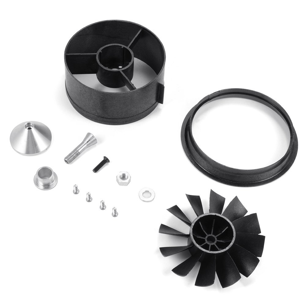 QX-Motor 64mm EDF Duct Housing Fan 12-Blade Prop Unit Spare Parts for RC Jet Airplane